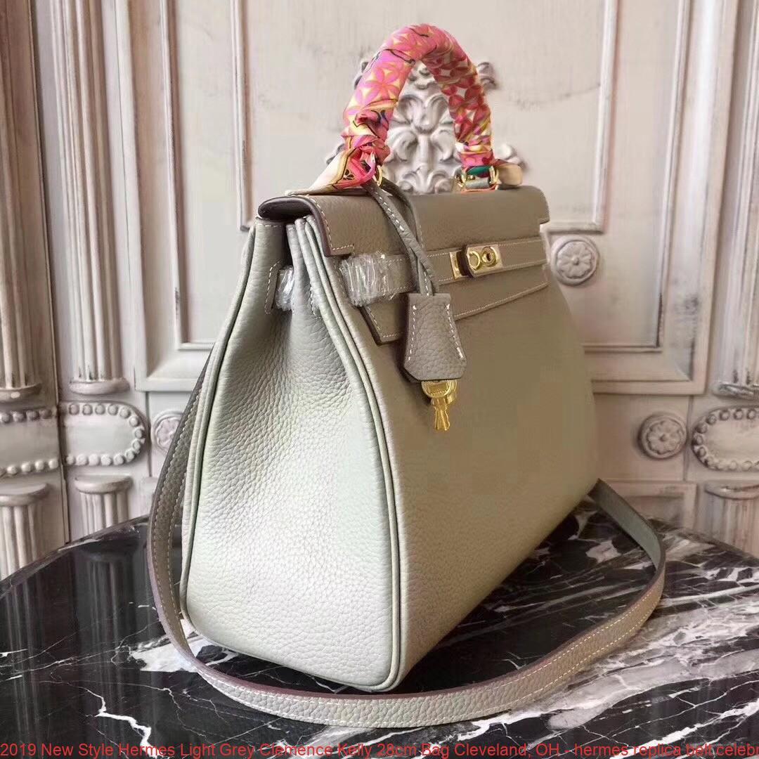 2019 Lighting Trends The Latest Looks Styles In Light: 2019 New Style Hermes Light Grey Clemence Kelly 28cm Bag