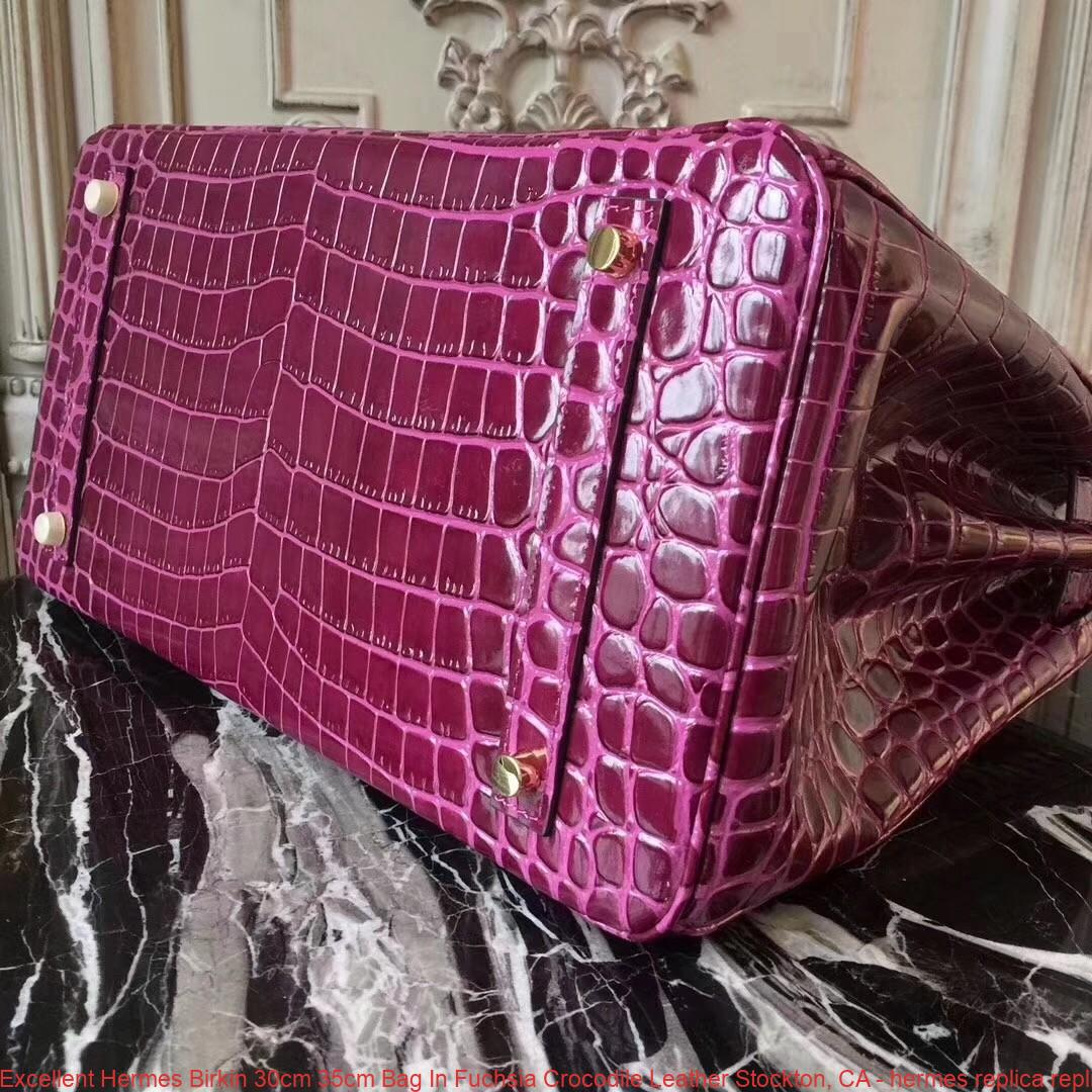 9e8ddb59f8 Excellent Hermes Birkin 30cm 35cm Bag In Fuchsia Crocodile Leather ...